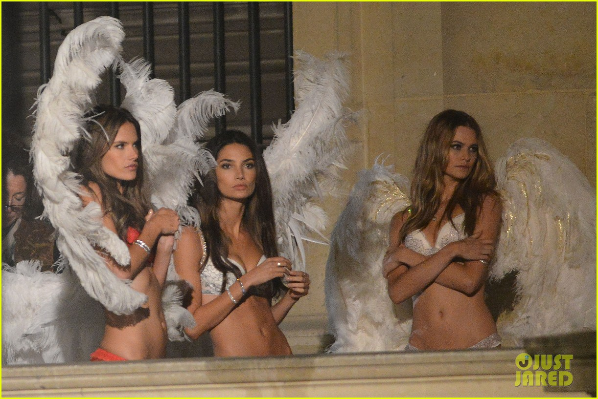 behati prinsloo lily aldridge vs angels louvre shoot 232954572