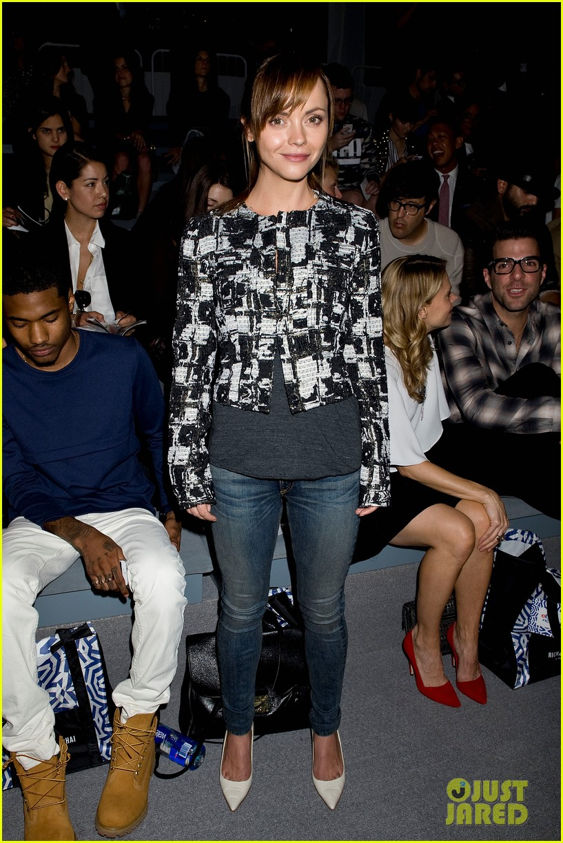 zachary quinto christina ricci richard chai show for nyfw 122944556