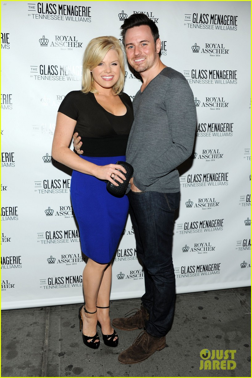 zachary quinto megan hilty glass menagerie opening night 012960896