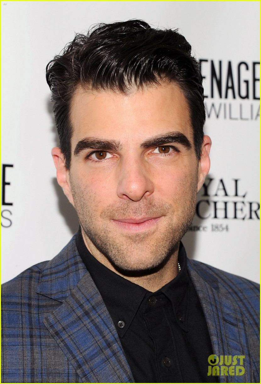zachary quinto megan hilty glass menagerie opening night 022960897