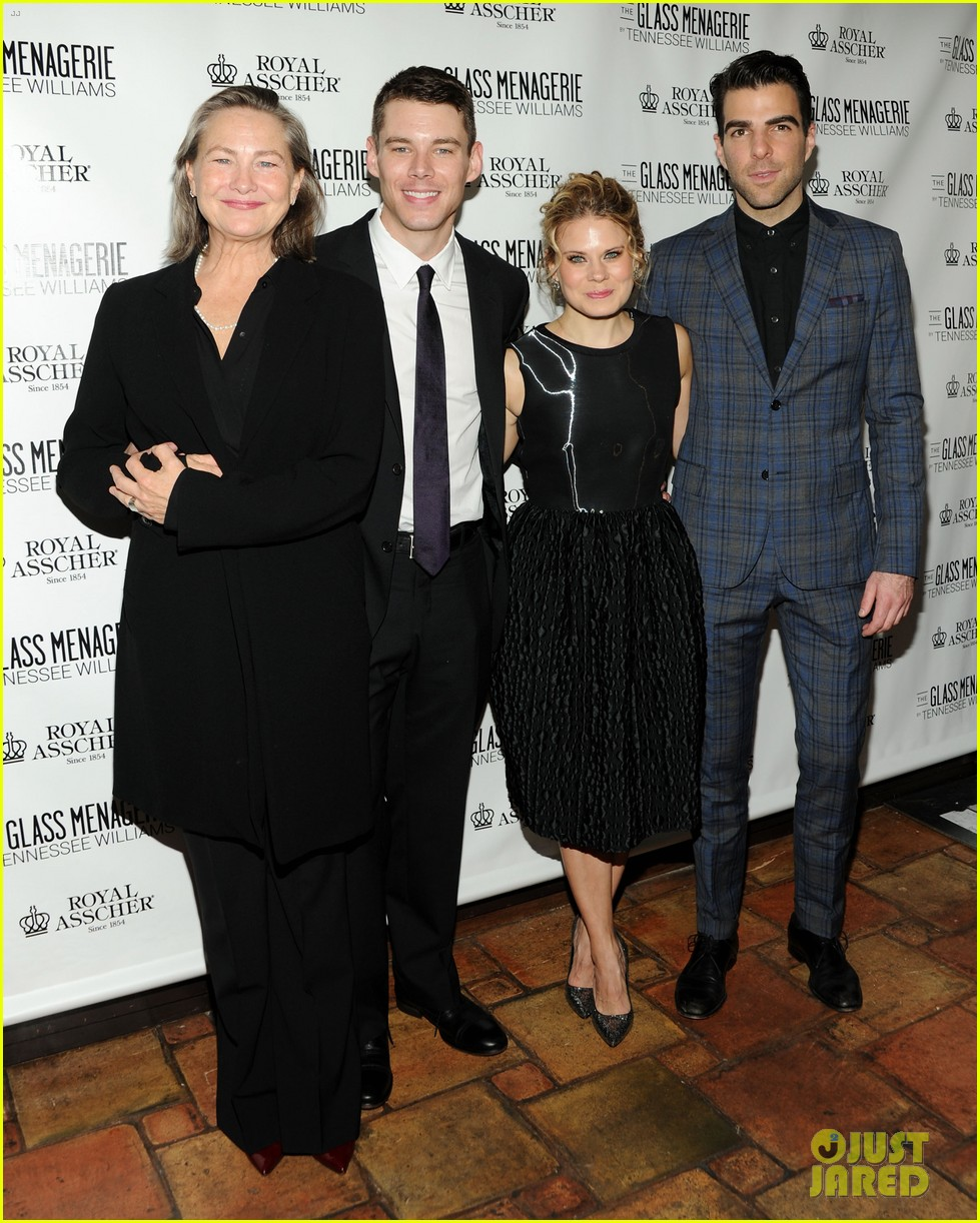zachary quinto megan hilty glass menagerie opening night 03