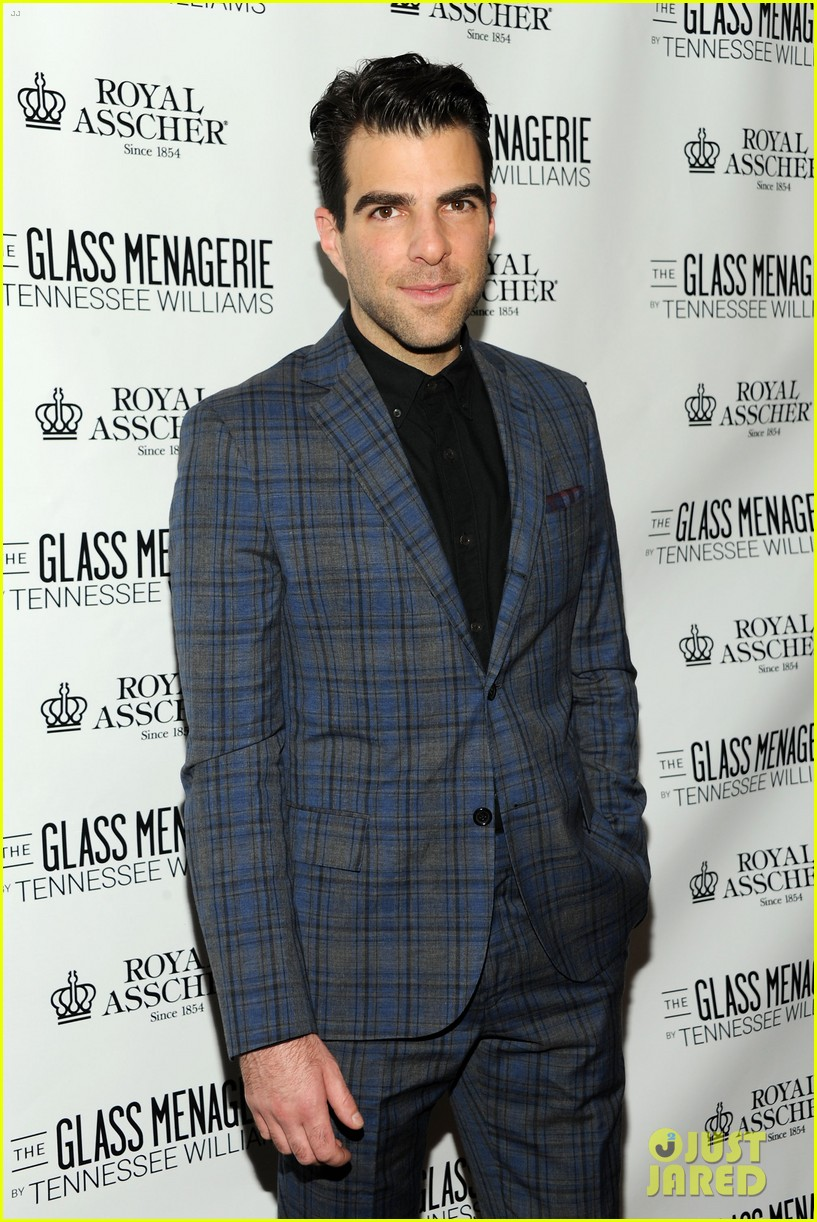 zachary quinto megan hilty glass menagerie opening night 192960914