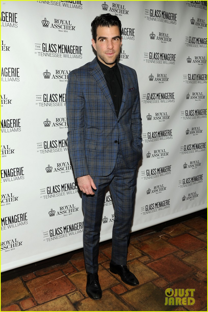 zachary quinto megan hilty glass menagerie opening night 252960920