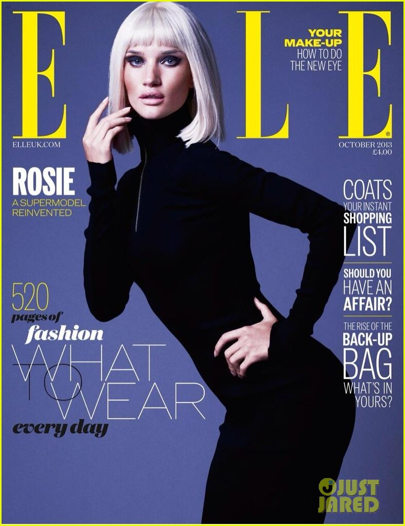 rosie huntington whiteley covers elle uk october 2013