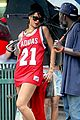 rihanna wears basketball jersey dress in rainy nyc 24