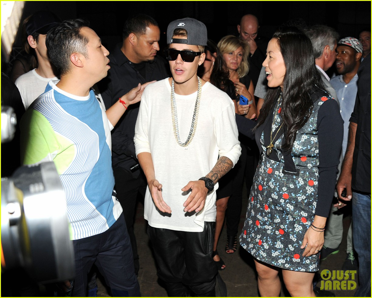 rihanna justin bieber opening ceremony nyfw after party 042947979