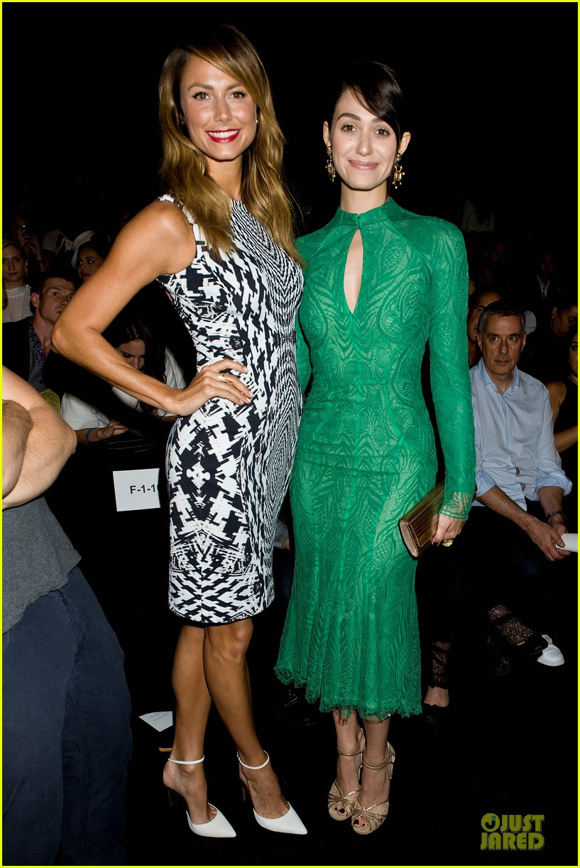 emmy rossum stacy keibler monique lhuillier fashion show 012947628