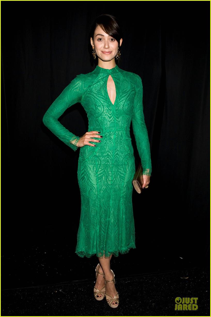 emmy rossum stacy keibler monique lhuillier fashion show 062947633
