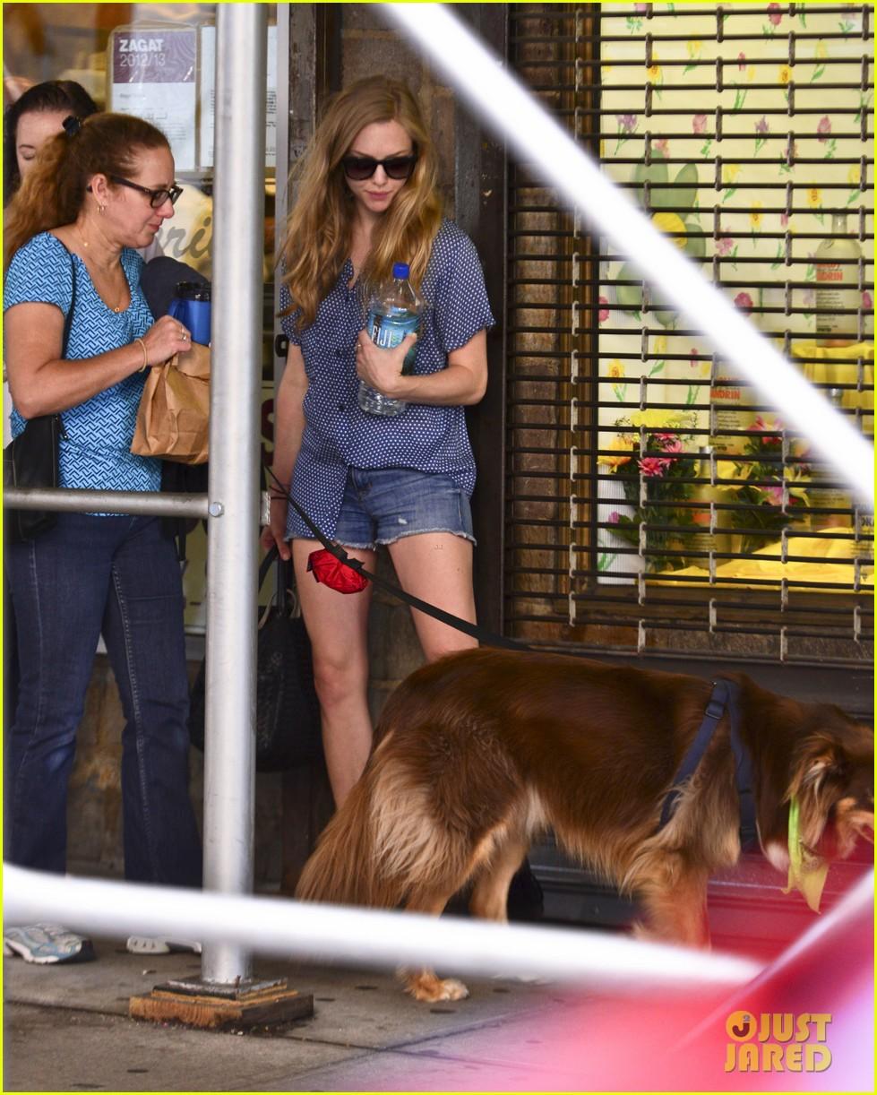 amanda seyfrieds dog finn jumps kisses justin long 172943734