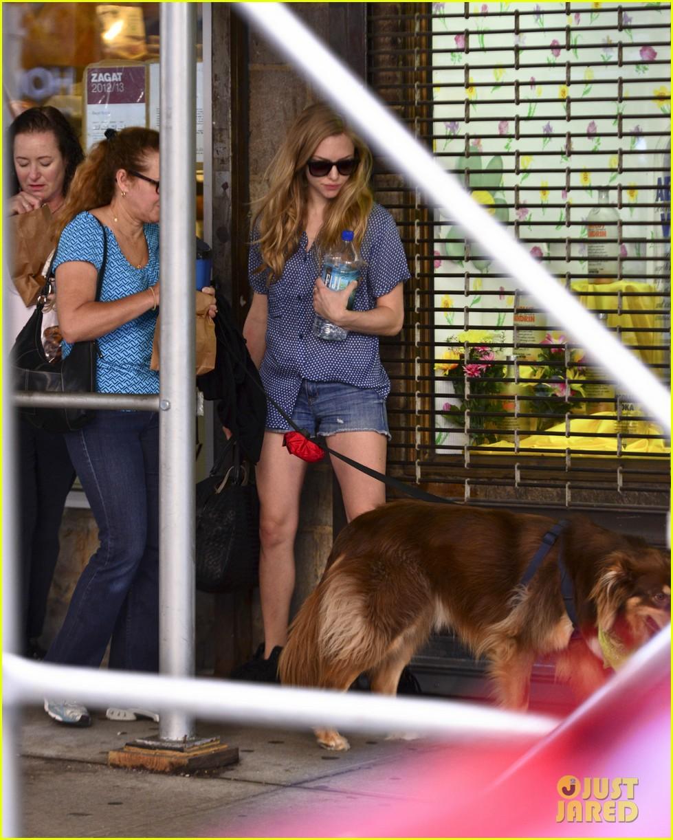 amanda seyfrieds dog finn jumps kisses justin long 182943735