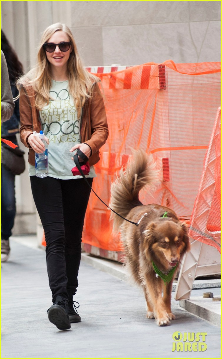 amanda seyfried walks finn after celebrating his birthday 052961003