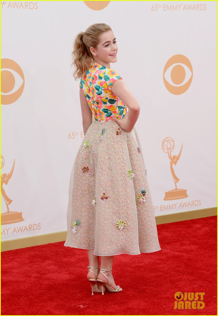 kiernan shipka morgan saylor emmys 2013 red carpet 162957930