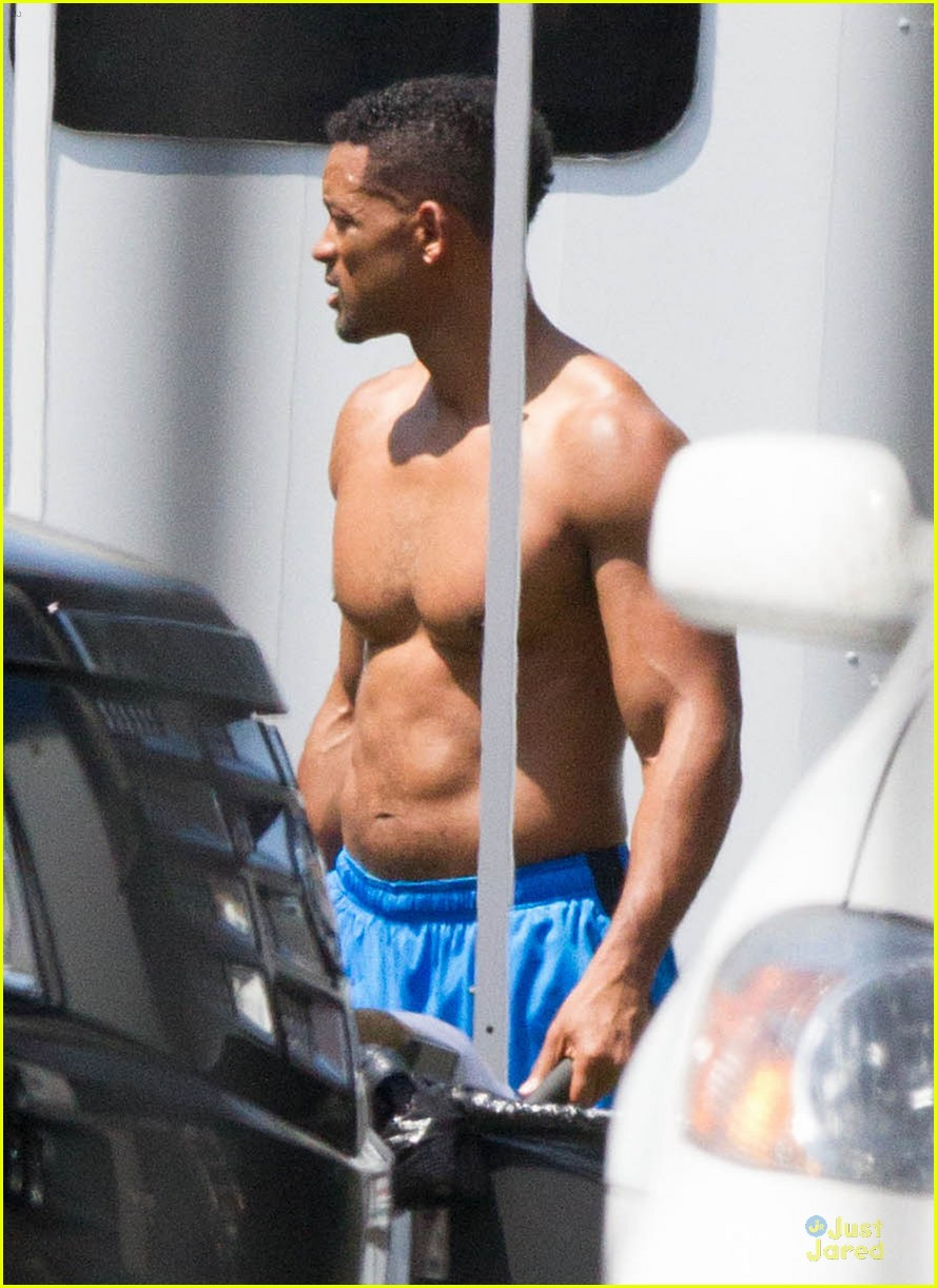 will smith shirtless fighting moves for focus 092951722