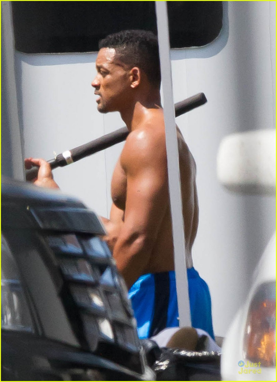 will smith shirtless fighting moves for focus 122951725