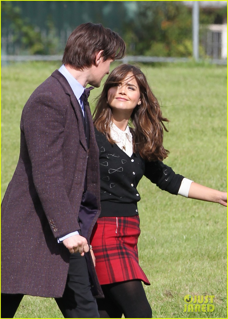 matt smith films doctor who christmas special with jenna coleman 022949166
