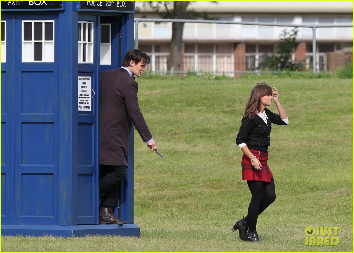 matt smith films doctor who christmas special with jenna coleman 062949170