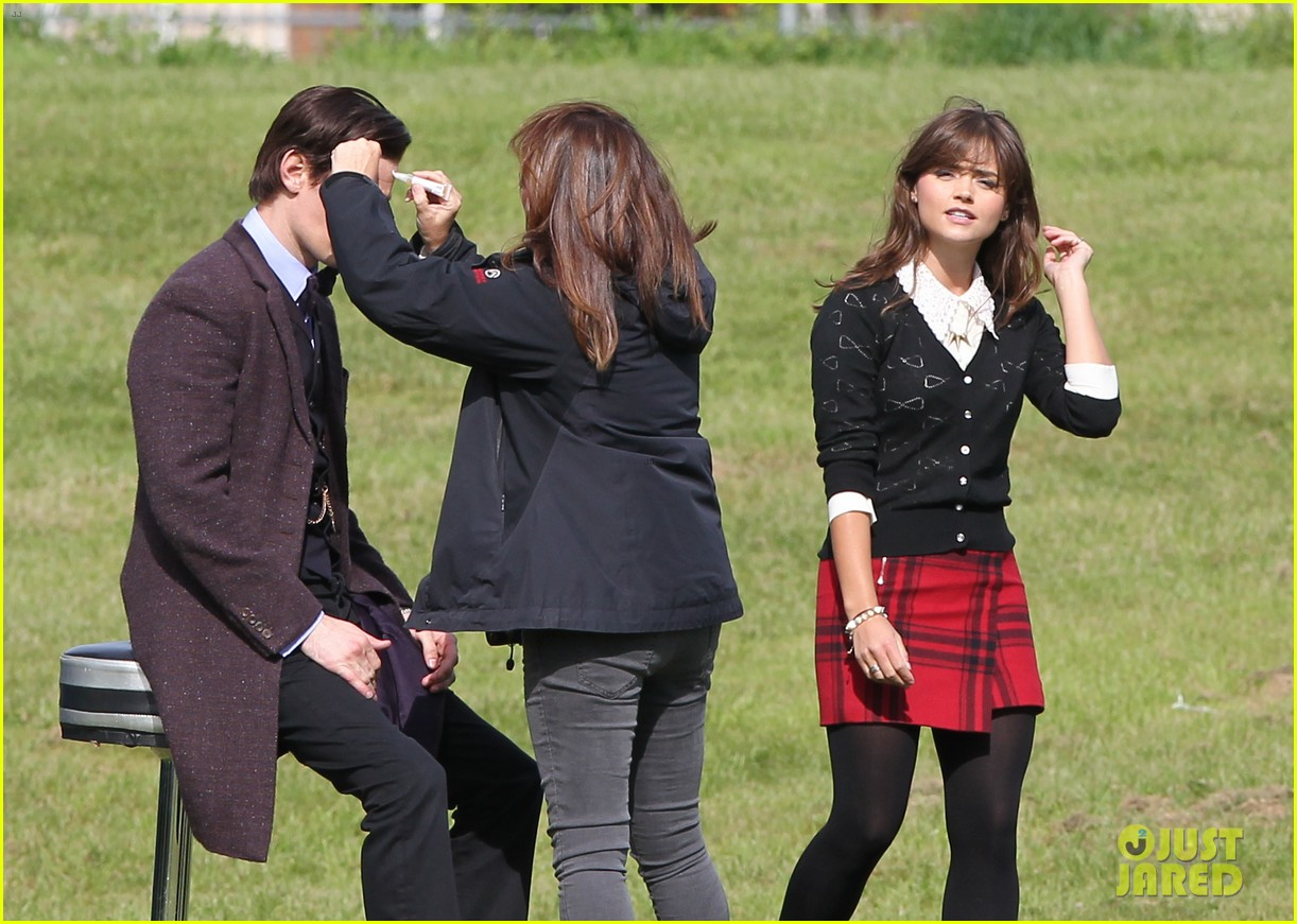 matt smith films doctor who christmas special with jenna coleman 072949171