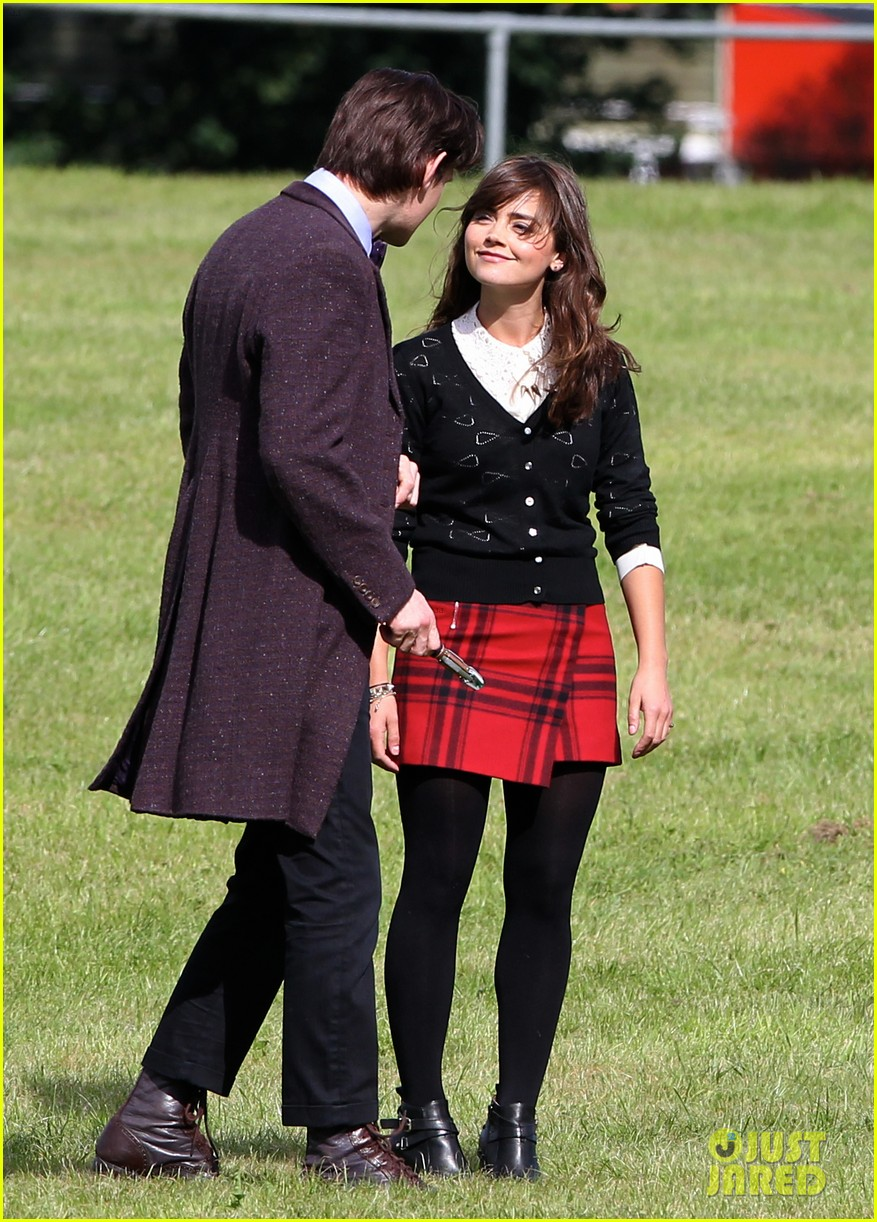 matt smith films doctor who christmas special with jenna coleman 082949172