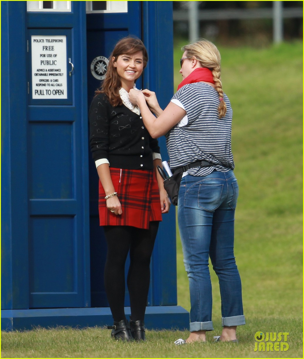 matt smith films doctor who christmas special with jenna coleman 112949175