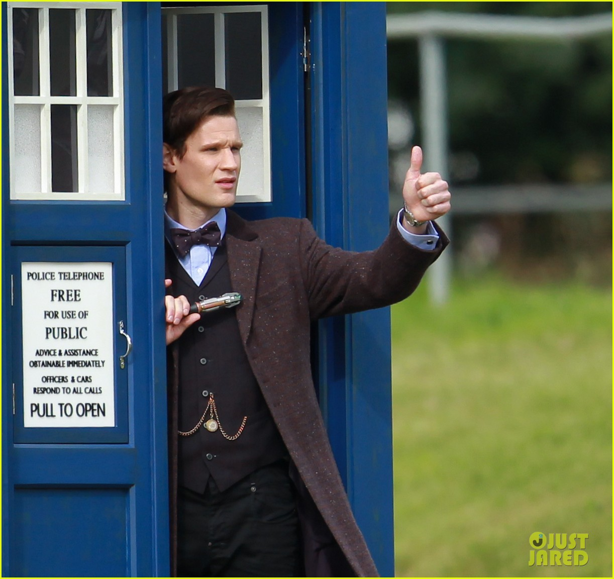 matt smith films doctor who christmas special with jenna coleman 12