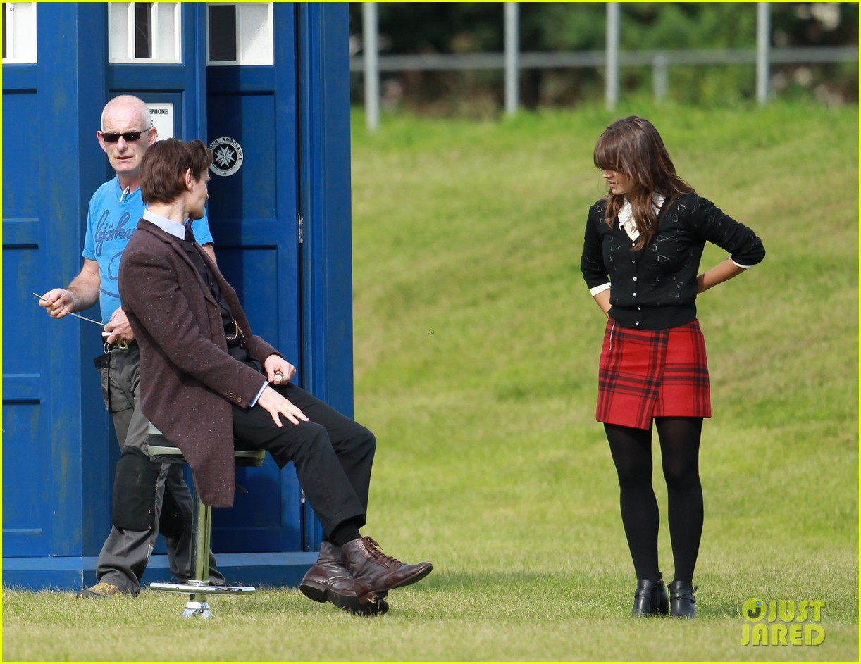 matt smith films doctor who christmas special with jenna coleman 162949180