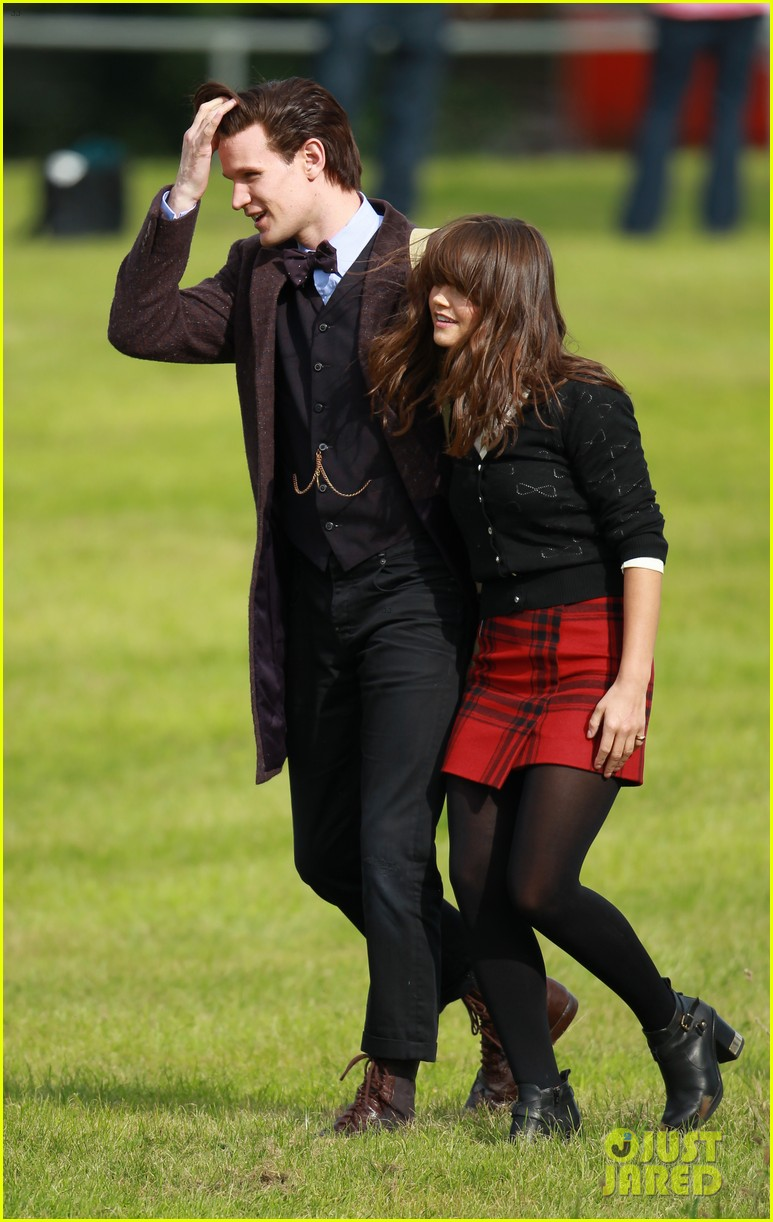matt smith films doctor who christmas special with jenna coleman 212949185