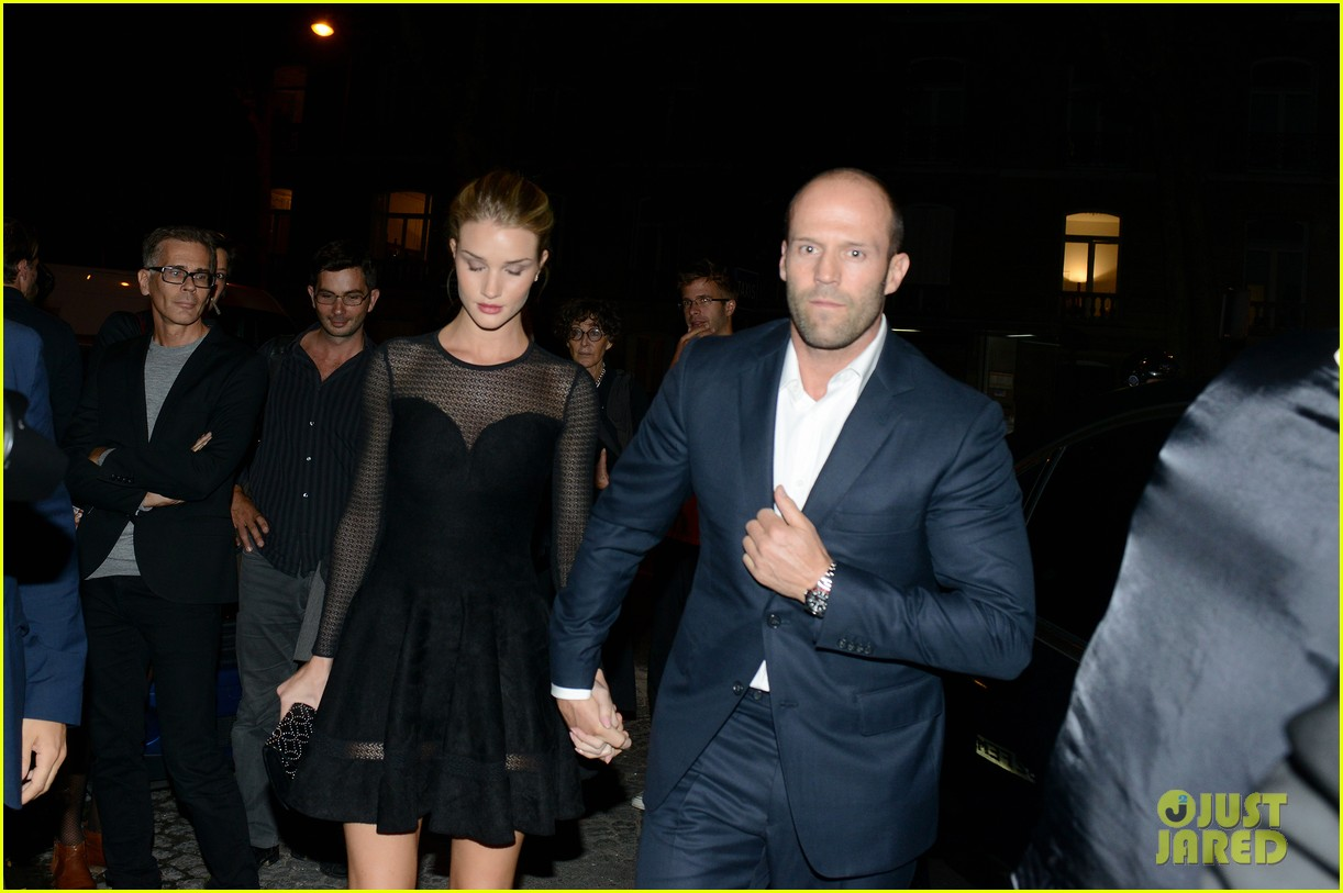 jason statham rosie huntington whiteley azzedine alaia paris fashion show 082959949
