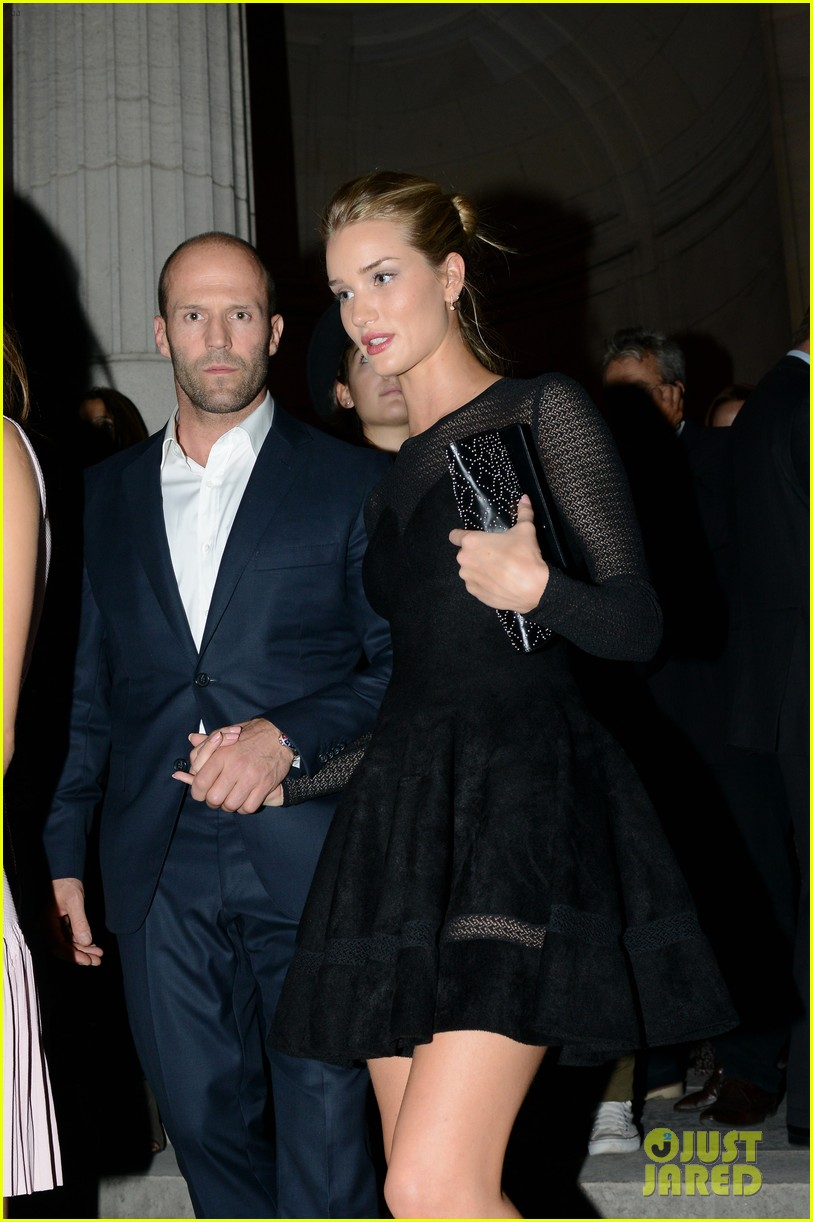 jason statham rosie huntington whiteley azzedine alaia paris fashion show 092959950