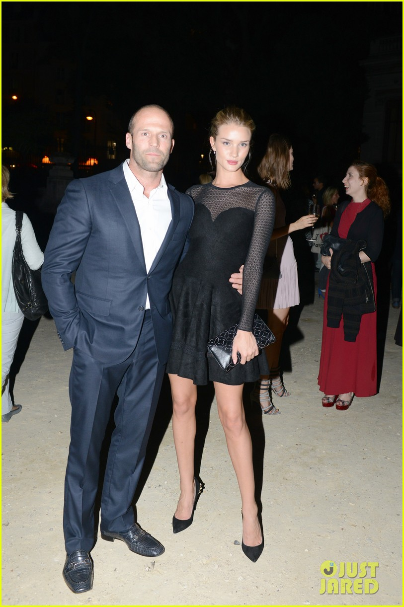 jason statham rosie huntington whiteley azzedine alaia paris fashion show 112959952