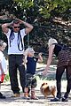 gwen stefani possible baby bump drop off the boys 13