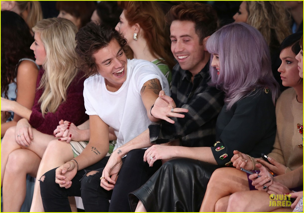 harry styles kelly osbourne house of holland fashion show 042952375