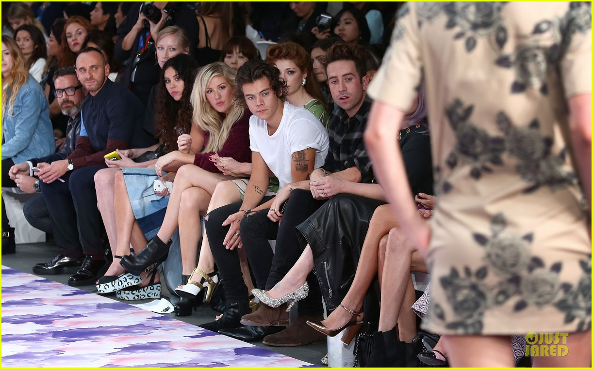 harry styles kelly osbourne house of holland fashion show 07