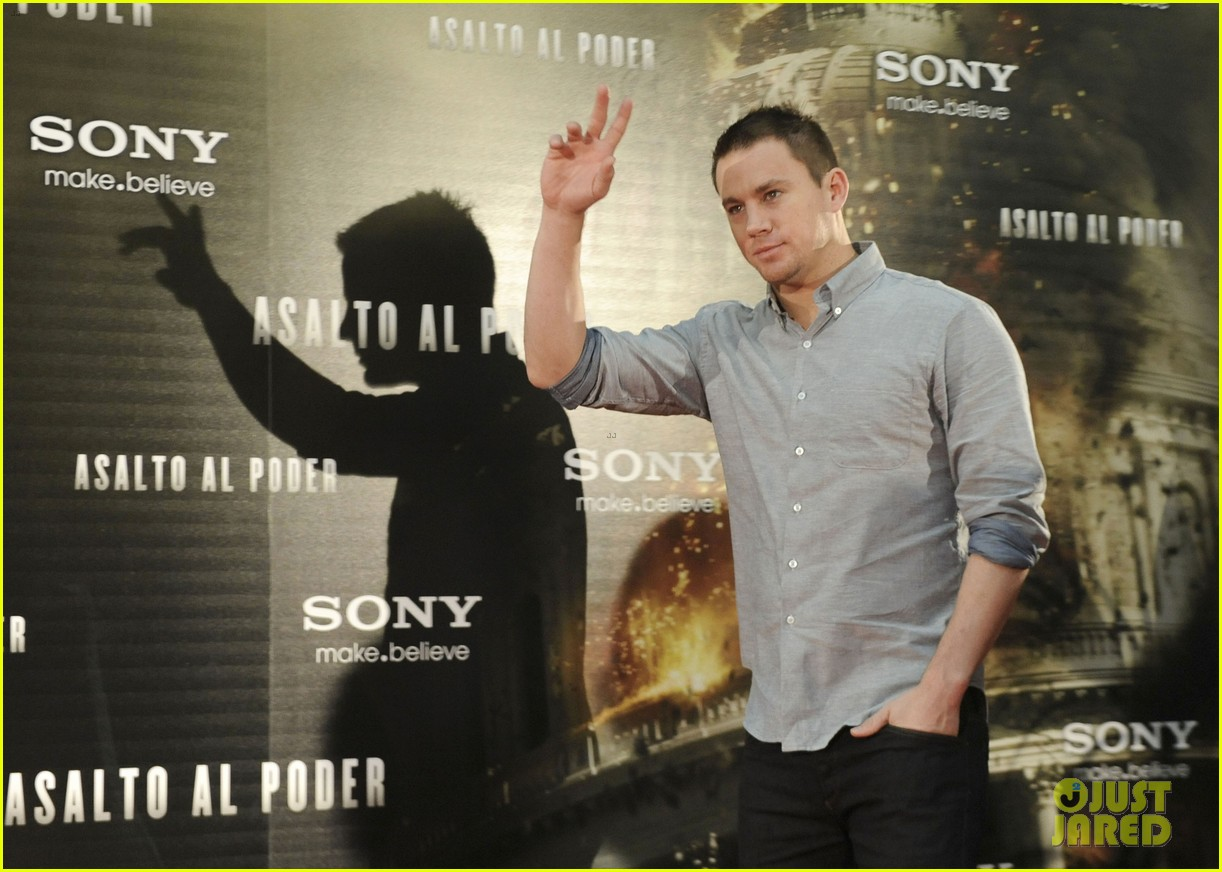 channing tatum jamie foxx white house down madrid photo call 092943482
