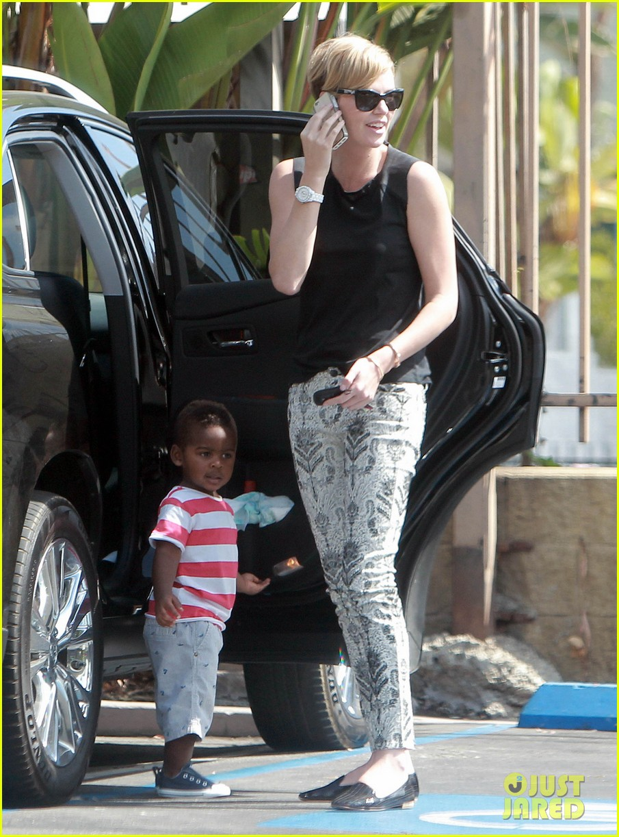 charlize theron grabs coffee with her little man jackson 012960102