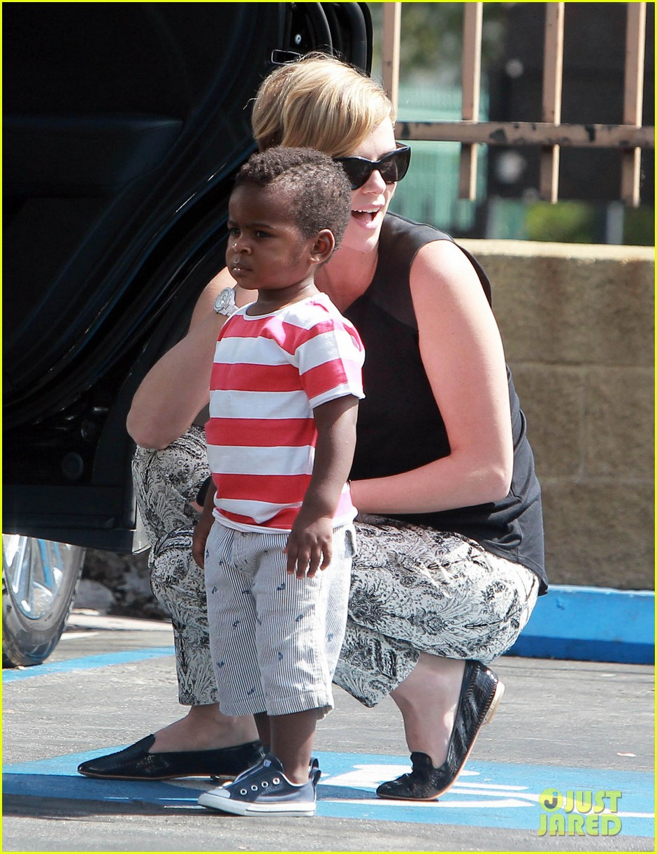 charlize theron grabs coffee with her little man jackson 022960103