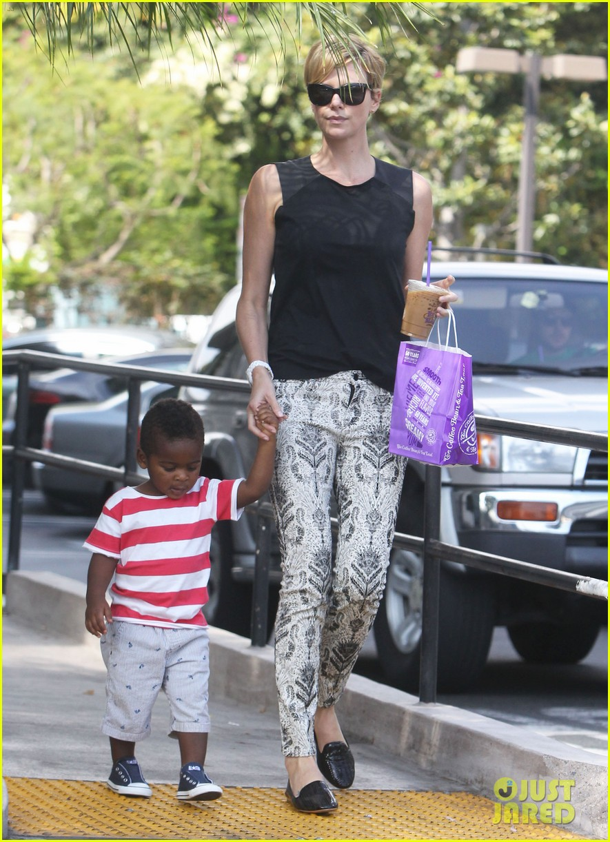 charlize theron grabs coffee with her little man jackson 072960108