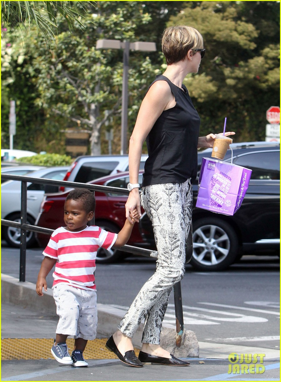 charlize theron grabs coffee with her little man jackson 082960109