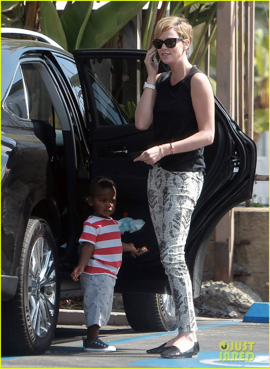 charlize theron grabs coffee with her little man jackson 16