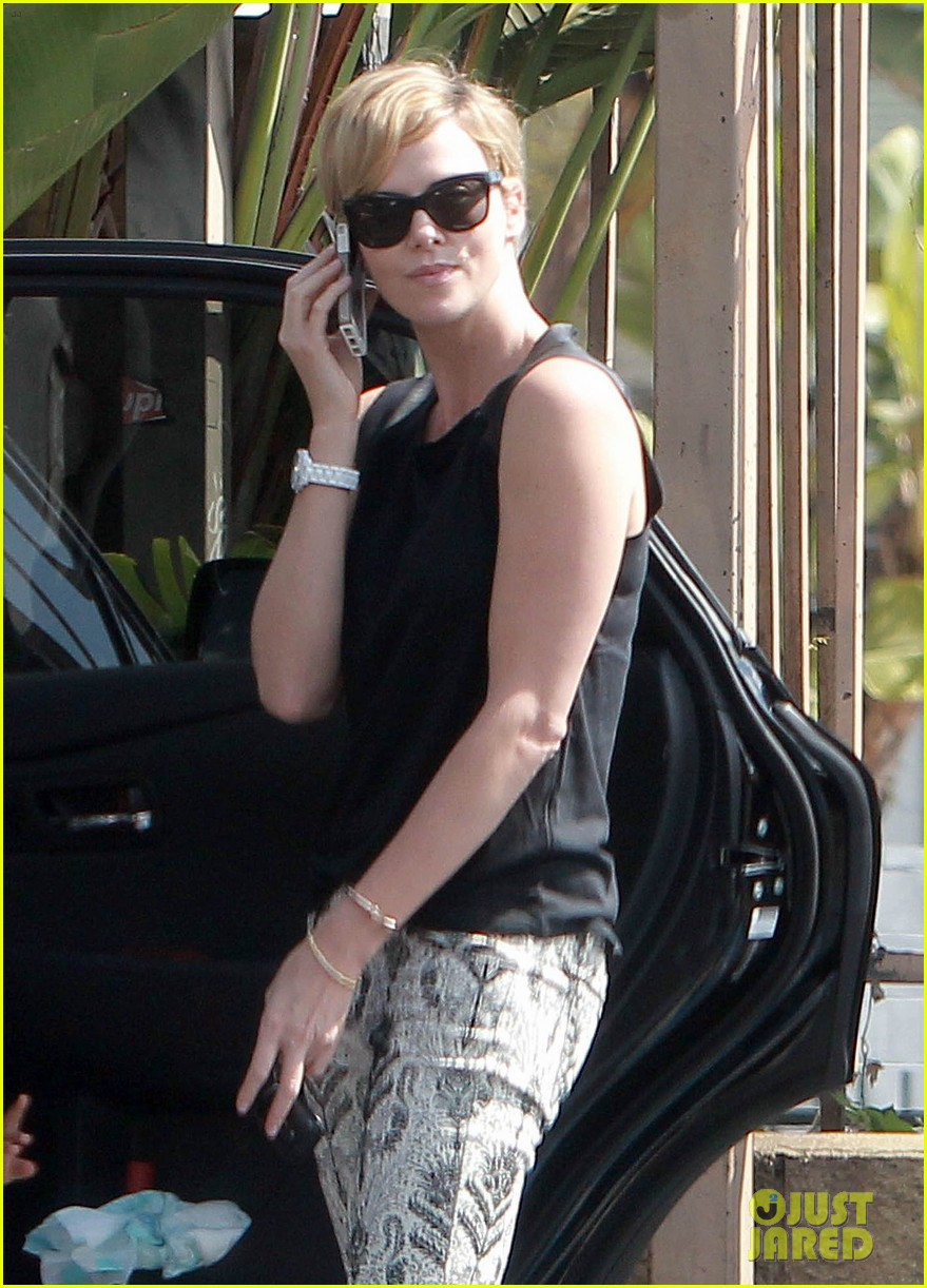 charlize theron grabs coffee with her little man jackson 182960119