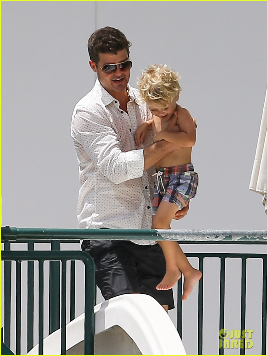 robin thicke waterslide adventures with julian 132942099