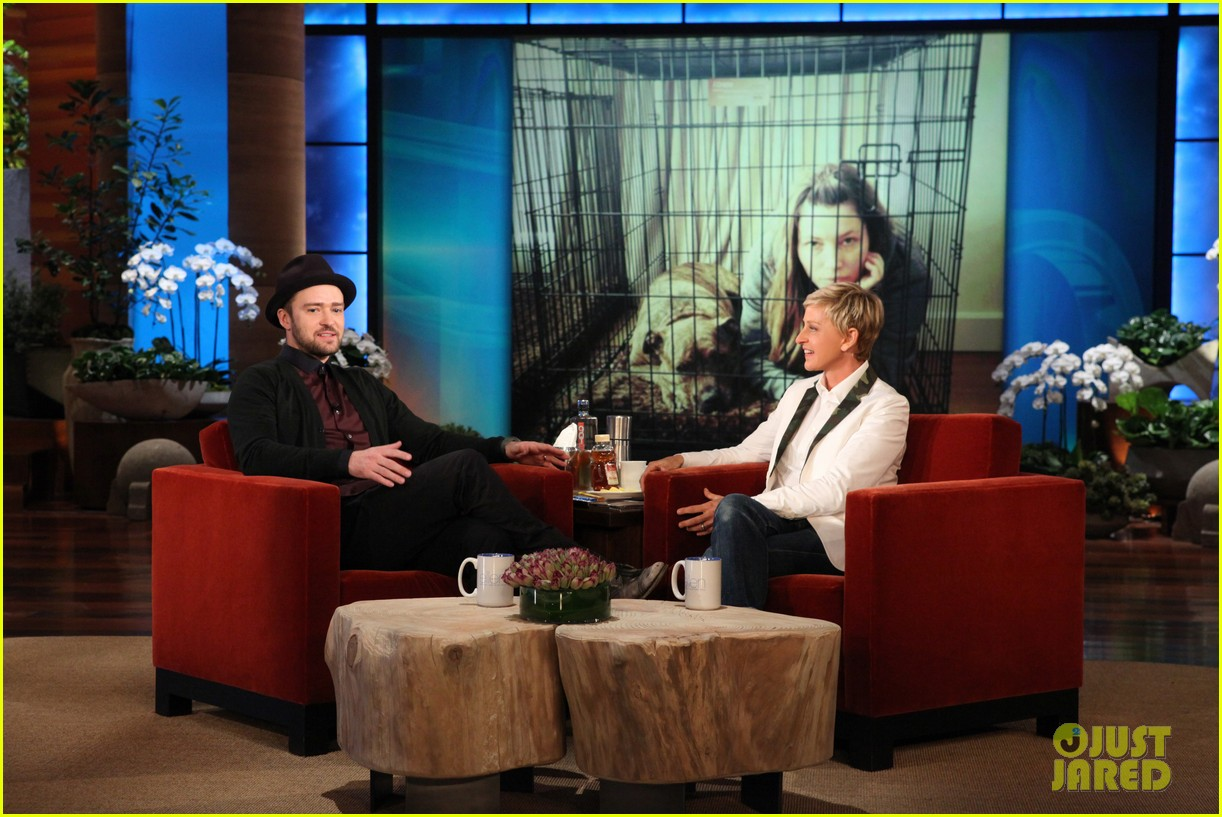 justin timberlake performs on the ellen show 012961174