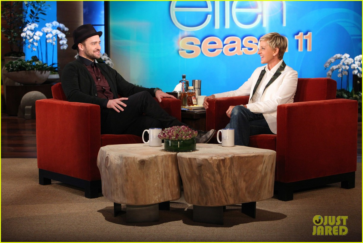 justin timberlake performs on the ellen show 032961176