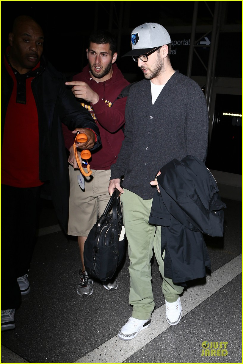 justin timberlake supports memphis grizzlies at lax airport 132961465