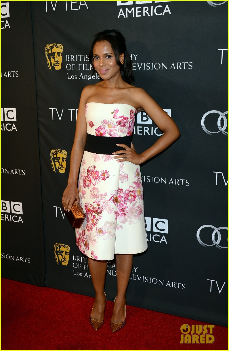 kerry washington michelle dockery bafta la tv tea party 06