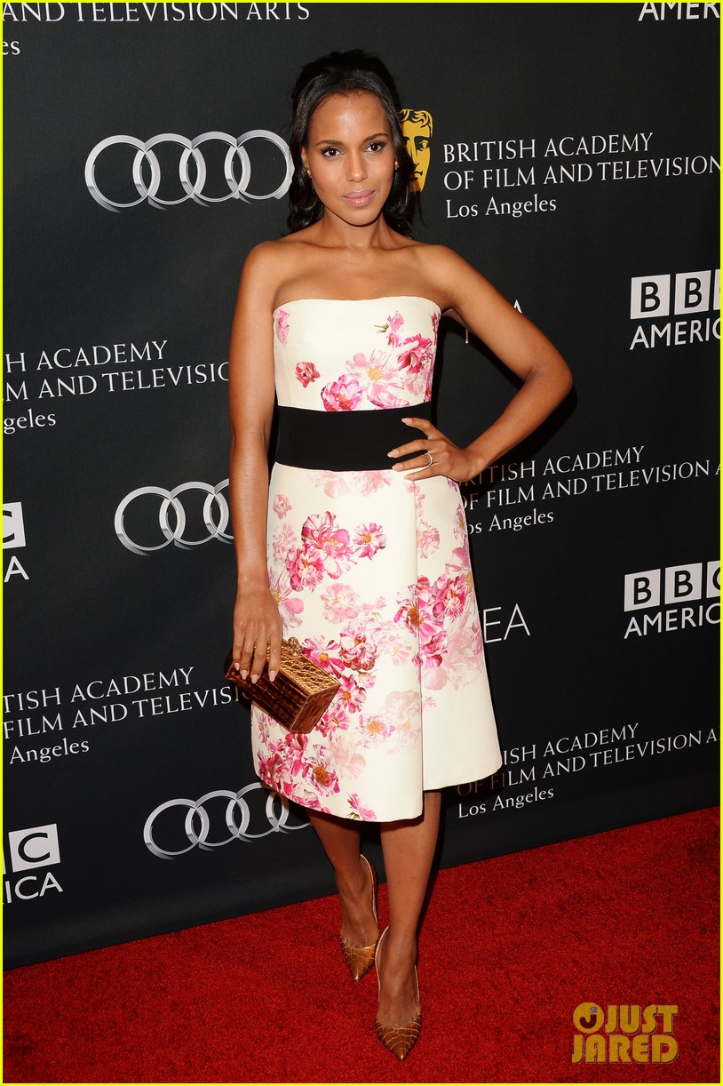 kerry washington michelle dockery bafta la tv tea party 132956996