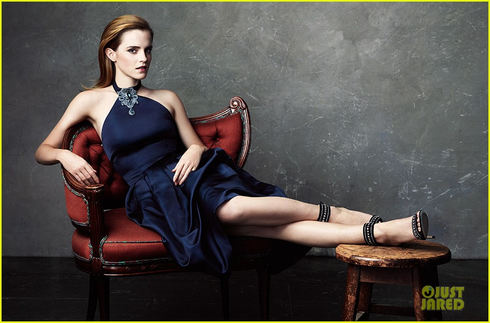 emma watson covers the edit in sustainably produced dress 012955745