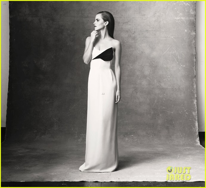 emma watson covers the edit in sustainably produced dress 072955751