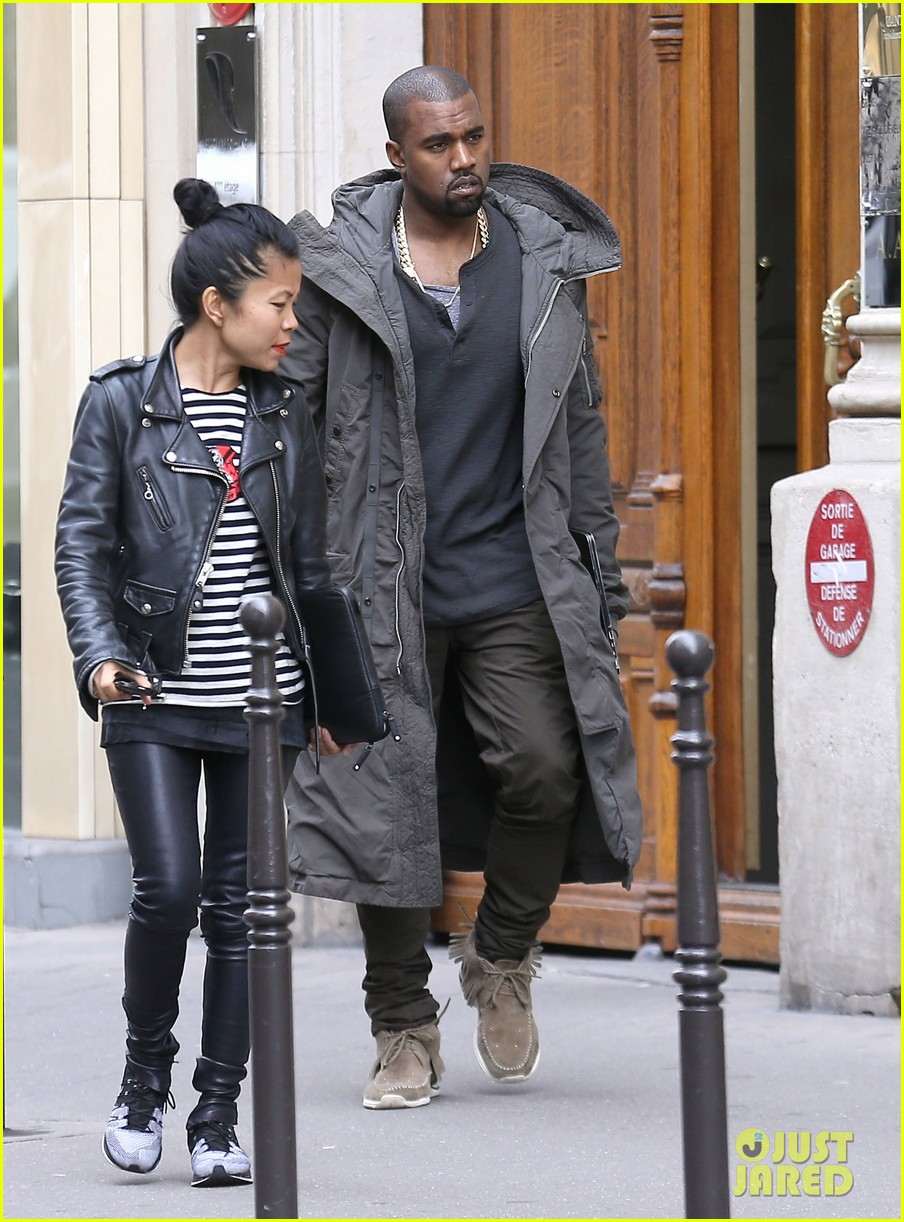 kanye west promotes yeezus in paris 052954629