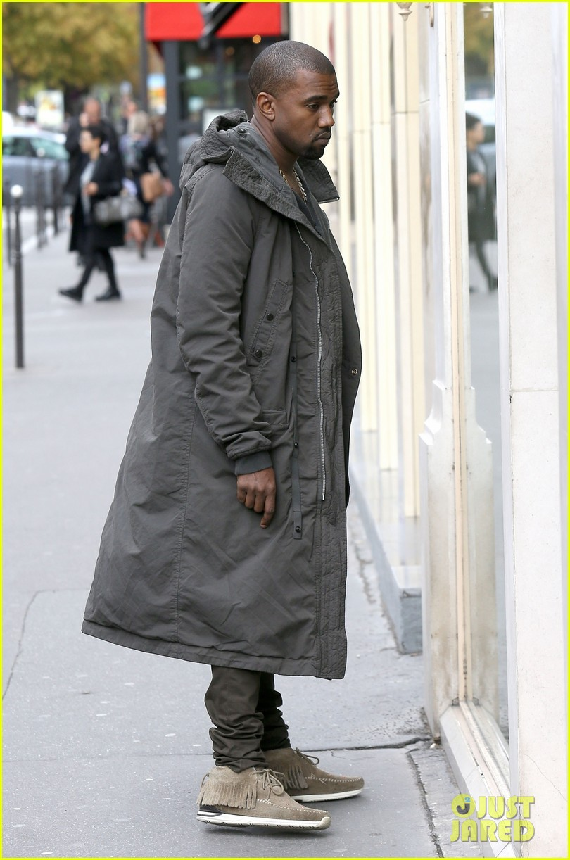 kanye west promotes yeezus in paris 08