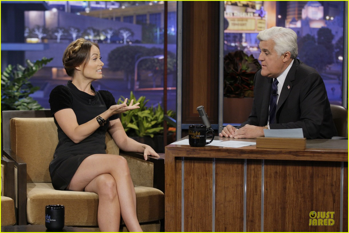 olivia wilde cher lloyd tonight show with jay leno guests 012959463